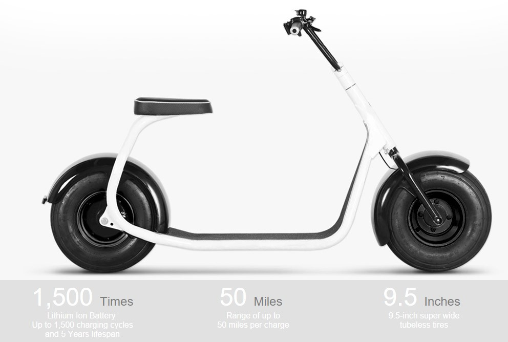 SSR SEEV-800 Electric 800W Fat Tire Scooter